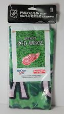 """Detroit Red Wings SHAMROCK Irish St. Patrick's Day NHL 27"""" by 37"""" Vertical Flag"""