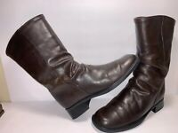 SANTANA CANADA SZ 7 1/2 M BROWN LEATHER MID CALF WOMEN SLOUCH BOOTS BMW-1