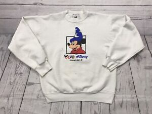 Vintage Mickey Mouse Crewneck Sweater Boys Medium Small 90s Walt Disney Phoenix