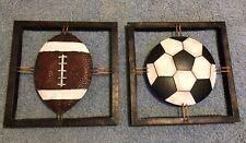 Football Soccer Metal Wall Decor