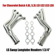 """LS Swap Longtube Headers 1 3/4"""" For Chevrolet Buick 4.8L, 5.3L LS1 LS2 LS3 LS6"""