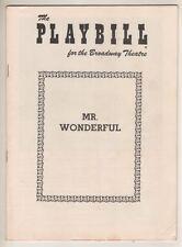 "Sammy Davis, Jr.  ""Mr. Wonderful""  Playbill  1956  Chita Rivera, Jack Carter"