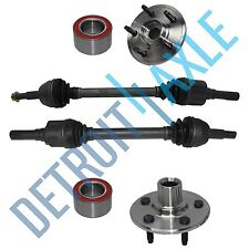Rear Left & Right CV Axle Drive Shaft + 2 Wheel Hub and Bearing Assembly 4 Door