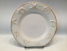 "8.5"" Plate Thomson Pottery CAPE COD Sea Shells Beach Salad Dessert Lunch Ivory"