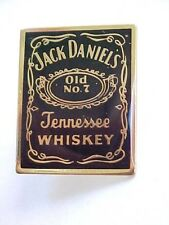 Vintage Jack Daniel's Tennessee Whiskey Old No.7 Black & Gold Pin