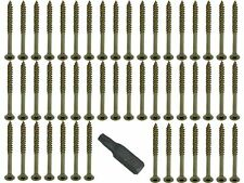 QTY Of 50 Torx 4 X 50 Fast Yzp Csk Easy Woodscrews And Free Bit