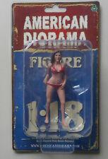 "OCTOBER RED BIKINI GIRL AMERICAN DIORAMA 1:18 SCALE FEMALE GIRL 4"" Figure"