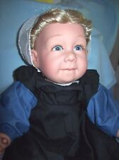 "PAT SECRIST / ZOOK 21 INCH AMISH GIRL DOLL ""MYLO"""