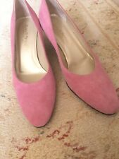 Gorgeous Jigsaw Dusky Pink Suede Shoes 39 VGC