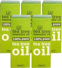 100 % Pure Tea Tree Essential Oil 10ml x5 FIVE PACK- Melaleuca Alternifolia