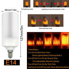 E14 5W Burning Flicker Flame Effect Fire Light Bulb LED Decorative Lamp Warm