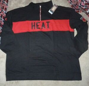 NEW NBA Miami Heat 1/4 Zip Fleece French Terry Sweatshirt Men 3XL XXXL NEW NWT