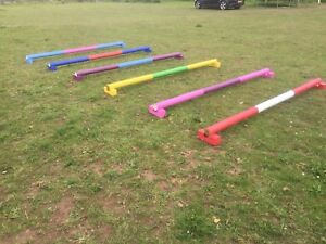horse show jumps showjump ends. 2 Pairs raised trotting polepods Cavaletti