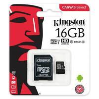 Speicher Karte 16GB MicroSD Memory Micro SDXC Kingston SD Adapter