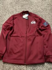 adidas Colorado Avalanche Maroon Game Mode Full-Zip Bomber Jacket