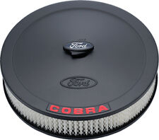 Ford Black Crinkle Cobra Raised Emblem Air Cleaner Kit