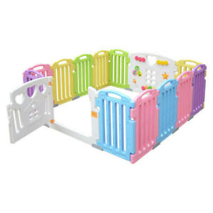 Baby Playpen 14 Panel Kids Activity Centre Safety Play Yard Home Indoor Outdoor