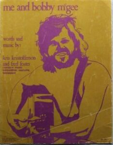 ME AND BOBBY McGEE - KRIS KRISTOFFERSON, 1969 SHEET MUSIC