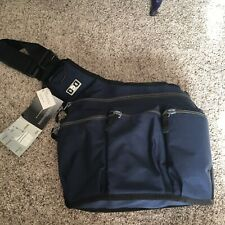 Diaper Dude Messenger Diaper Bag Navy and gray
