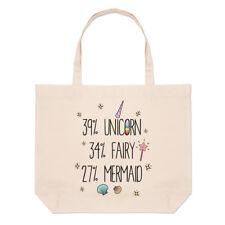 39% Unicorno Fata 34% 27% SIRENA Grandi Da Spiaggia Tote Bag-Divertente spalla