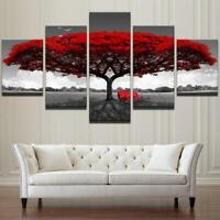 Romantic Tree 5 panel canvas Wall Art Home Decor Poster Print