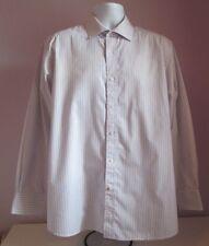 "Mens DEHAVILLAND Blue/White/Lilac Striped Polycotton Shirt Size Large 16"" Collar"