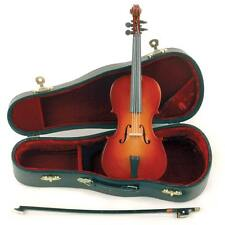"""Miniature 9"""" Cello with Case & Bow for Display - FRIENDLY & FAST SERVICE!"""