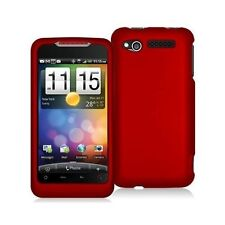 Hard Rubberized Case for HTC Merge - Red