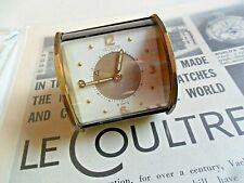 Unusual Rare Vintage 1950's Men's LeCoultre Travel Alarm 8 Day Swiss Clock Runs