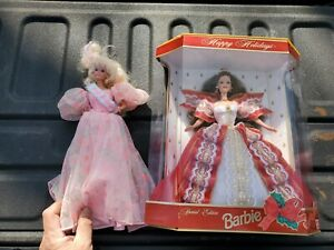 Barbie lot dolls holiday