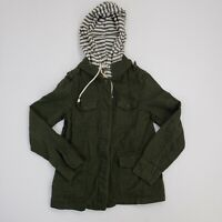 Forever 21 Contemporary Women's Hooded Military Pockets Coat Ladies XS Jacket
