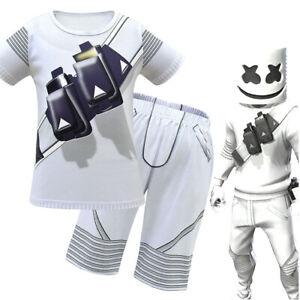 DJ Marshmello Mask Marshmello Cosplay Kids Costume Carnaval Halloween Costume