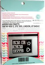 Motion Crafts Small Card Animation Die Cut & Stamp Set by Uchi's Design NEW!