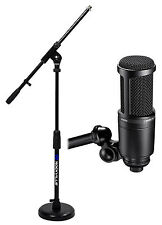 Audio Technica AT2020 Studio Recording Microphone-Cardioid Condenser+Mic Stand