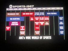 16MM RARE 1967 ABC-TV SPORTS PREVIEW REEL, BEAUTIFUL COLOR SEGMENTS