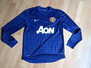 Manchester United nike blue goalkeeper shirt vgc medium