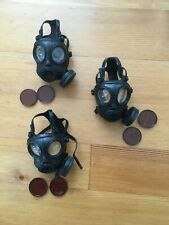 "12"" Action Figure Accessories Gasmask (3) New Unbranded 1:6 Scale"