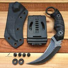 D2 Tactical Karambit Outdoor Hunting Fixed Blade Knife CSGO Claw Knives K Sheath