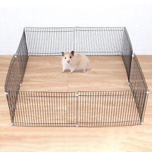 Small Folding Pet Dog Guinea Pig /Rabbit /Hamster Garden Play Pen Metal Fence