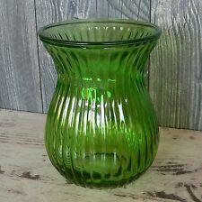 Vase 19cm hoch Glas grün Laterne Windlicht Garten Deko Teelichthalter Votivglas