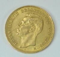 Coin Münze 20 Mark Ernst Ludwig Grossherzog von Hessen 1908 A Jäger 226 .