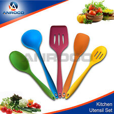 Silicone Kitchen Utensils - Durable, Non-Stick 5 pieces Multicolor