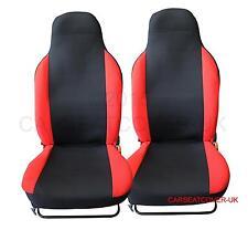 Honda Civic-Par De Premium Rojo y Negro cubiertas de asiento de coche