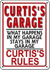 CURTIS'S GARAGE SIGN - NOVELTY Plastic (Polystyrene) for your garage