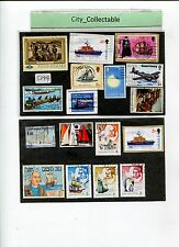 17 PCS SHIPS USED STAMPS # S399