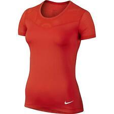 NIKE Women's Pro Hypercool Shirt Sleeve Training shirt sz L Large Light Crimson