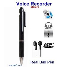 NUOVO SUPER SENSITIVE MICROFONO AUDIO SPY VOICE RECORDER in Real penna a sfera