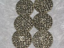 CHANEL 6  CC LOGO FRONT  MATTE GOLD METAL BUTTONS  20  MM/ under 1''   NEW LOT 6