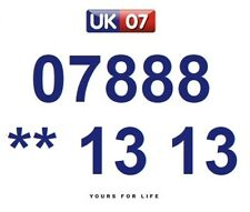 07888 ** 13 13 - Gold Easy Memorable Business Platinum VIP UK Mobile Numbers