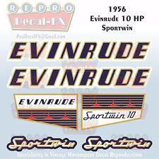 1961 Evinrude 10 HP Sportwin Outboard Repro 6 Pc Marine Vinyl Decals 10022-10023